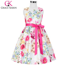 Buy Grace Karin Floral Print Flower Girl Dresses 2018 New Arrival Sleeveless Children Prom Gown Kid Baby Pageant Dress Wedding for $20.20 in AliExpress store