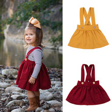 Cute Baby Girls Overall Skirt 2018 Summer Toddler Kids Brace Skirts Party Tutu Pageant Skirts(China)