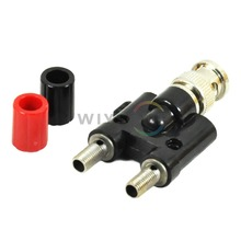O024 HT311 New BNC Male Plug to 2 dual Jack Female Coaxial Connector for Hantek Tektronix etc. FREE SHIPPING
