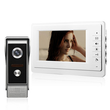 Wired 7 inch Color Video Door Phone Intercom Kit IR Night Vision Doorbell Call Camera for Home Apartment with 3M Cable