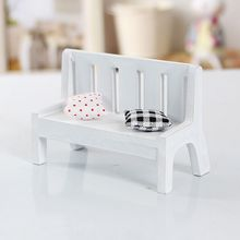 New Fasion Outdoor Chair Park Bench Photo Props  Miniature Dollhouse furniture accessories Wooden Garden Chair Home Decor