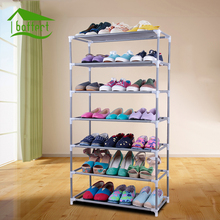 Non-woven Fabric Storage Shoe Rack Hallway Cabinet Organizer Holder Removable Door Shoe Storage Cabinet Shelf DIY Home Furniture(China)