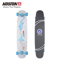 Koston Pro Longboard Completes Mermaid For Light Weight 46 Inch High Flexibility Longboard Completes Dancing Walking Skateboard
