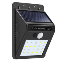 MUQGEW 2017 Newest High-end product 20 LED Solar Power PIR Motion Sensor Wall Light Outdoor Garden Waterproof Lamp(China)