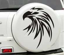 Car Flying Eagle Spare tire cover Hood decal for RAV4 Vinyl sticker #CG295 Black