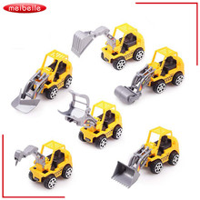 2016 6pcs/Lot Yellow Color Toy Truck Models Mini Toys Construction Trucks For Kids Children Play Gift Toys