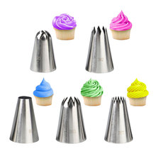 Buy 5pcs Large Cupcake Piping Nozzle Set Cake Decoration Cream Tips DIY Bakeware Pastry Nozzles for $6.06 in AliExpress store