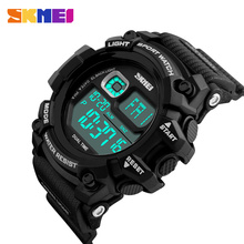 Fashion Men Sports Watches Dive 50m Digital LED Military Watch Men Fashion Casual Electronics Wristwatches Hot SKMEI Brand Clock(China)