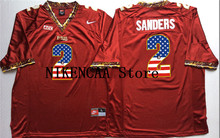 Nike 2016 Florida State Seminoles Red Sanders #2 Printing on the flag T-shirt Limited Jersey - White Size S,M,L,XL,2XL,3XL