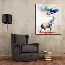 100%Handmade Modern Wall Art Decor Works High Quality Abstract Animal Elephant Oil Painting On Canvas For Wall Decor Artworks