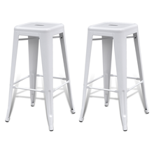 Bar Stool Bar Stool Square High Chairs 2 Pieces White Bar Chair For Drinking Dining Ship From ES