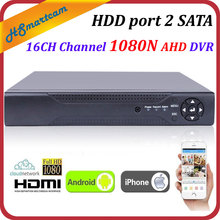 New HD 16CH 1080N P2P CCTV DVR HVR XVR for AHD CVBS CVI TVI IPC Camera NEW Solution HD 1080P free P2P DDNS XMeye HDD port 2 SATA(China)