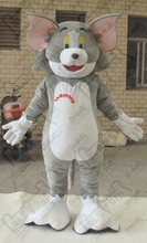 tom cat mascot costumes cartoon grey silly cat and jerry ostumes EVA head PP cotton body(China)
