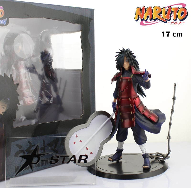 EMS Shipping 6pcs Cool 6.7 Naruto Shippuden Anime Uchiha Madara Boxed 17cm PVC Action Figure Collection Model Doll Toy Gift<br>