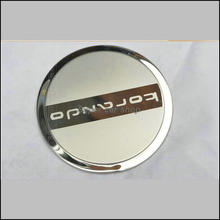 Car-styling Stainless steel, highlighting Automobile decorative laminated gas tank cap for ssangyong korando 1p/lot(China)