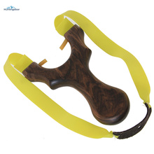 Powerful Slingshot Super Velocity Hunting Slingshot Catapult Outdoor Games Sling Hunting with Wooden Handle(China)