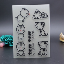 10x15CM Clear Stamps dog tom and his friends decoration envelope DIY Scrapbooking Card transparent embossing stencil template(China)