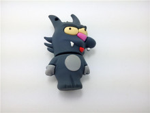 Original Full Capacity Cartoon Wolf USB Flash Drive 2.0 Flash Drive Thumb Drive 128MB-64G pen Drive Memory Card(China)