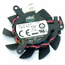 Original Cooler Master FY04010M12LNB 37mm for NVIDIA GeForce 605/620 Cooler Fan Replacement 31mm 12V 0.20A 2Wire 2Pin