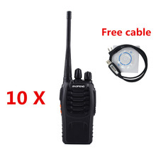 10PCS/LOT BAOFENG BF-888S UHF400-470mhz Walkie Talkie Transceiver Intercom Two Way Radio Baofeng 888S Hot sale 5W Power 1500mah