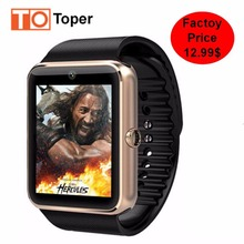 2017 Toper Smart Watch GT08 Clock with Sim/TF Card Slot Push Message Bluetooth Connectivity for Android Phones Smartwatch GT08