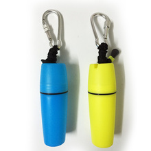 Waterproof box plastic dry box yellow blue color watersports dry bag small money box clip lanyard dive swim beach waterproof(China)