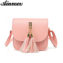 Fashion 2017 Small Bag Candy Color Tassel Women Messenger Bags Female Handbag Shoulder Bag Women Bag bolsa dl9110/f