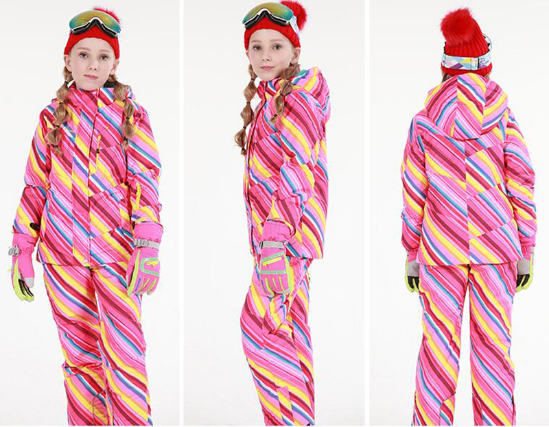 Ski Suit Kids Ski Jacket Ski Pants-5