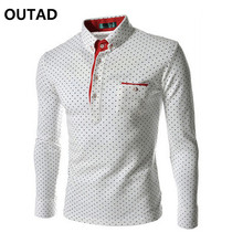 2017 Men Fashion Casual Long Sleeved Polka Dot shirt Slim Fit Male Social Business Dress Shirt Brand Men Clothing Soft comfort