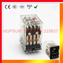 HH54P (5pc) power relay my4nj 220v 12v plug-in relay switch 5a 14pin 4pdt rele relee good quality mini electromagnetic reles