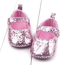 Cheap!  Toddler Baby Girls Shoes Sequin Infant Soft Sole First Walker Cotton Shoes Soft bottom Girls Shoes