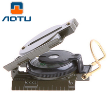 AOTU Military Lensatic Compass Magnifier for Camping Hiking Marching Outdoor Navigation Tools