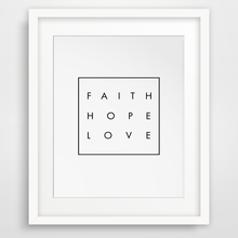 Inspirational Quote Faith Hope Love, Christian Digital Wall Art Modern Wall Picture Canvas Art Poster Oil Painting No Frame