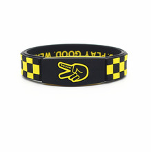 6pcs/lot high quality sports silicone power bracelet play good look good wear deuce energy wristband balance bangle(China)