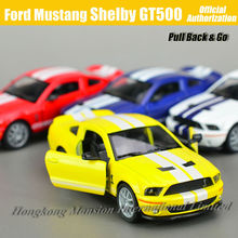 1:36 Scale Diecast Alloy Metal Car Model For Ford Mustang Shelby GT500 Collectible Model Collection Toys Car(China)