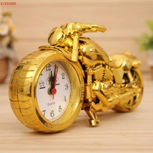 New Arrival Luxury gold color Motorcycle Model Alarm Clock GX03003 Plastic Motorcycle Toys  Best Christmas&New Year Gifts