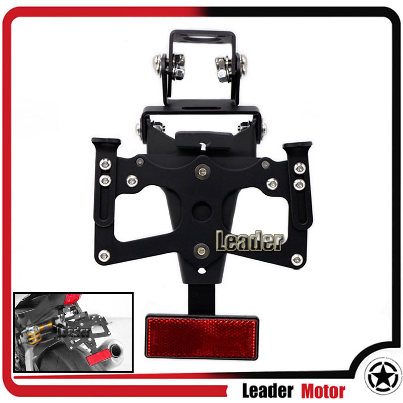 For YAMAHA YZF-R6 YZF R6 2008-2015 Motorcycle Adjustable Fender Eliminator Registration Plate Bracket License Plate Holder<br>