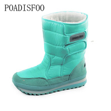 2017 Winter Women's Boots Shoes Snow Shoes Colorful Winter Warm Waterproof Boots Cotton In Tube Plus Size  Boot .ZYMY-xz-29