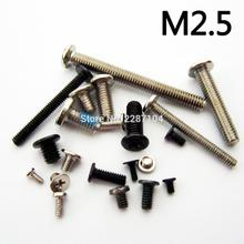 25pcs M2.5 Metric Thread diameter 2.5mm Laptop Notebook Computer Phone Mini Phillips Wafer Flat Head Screw Bolt HP SONY LENOVO