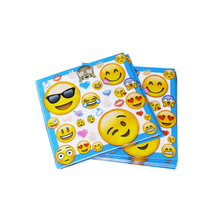 20pcs Smiley Face Expression Theme Party Paper Napkin Paper Tissue for Kids Birthday Party Decoration Supplies(China)