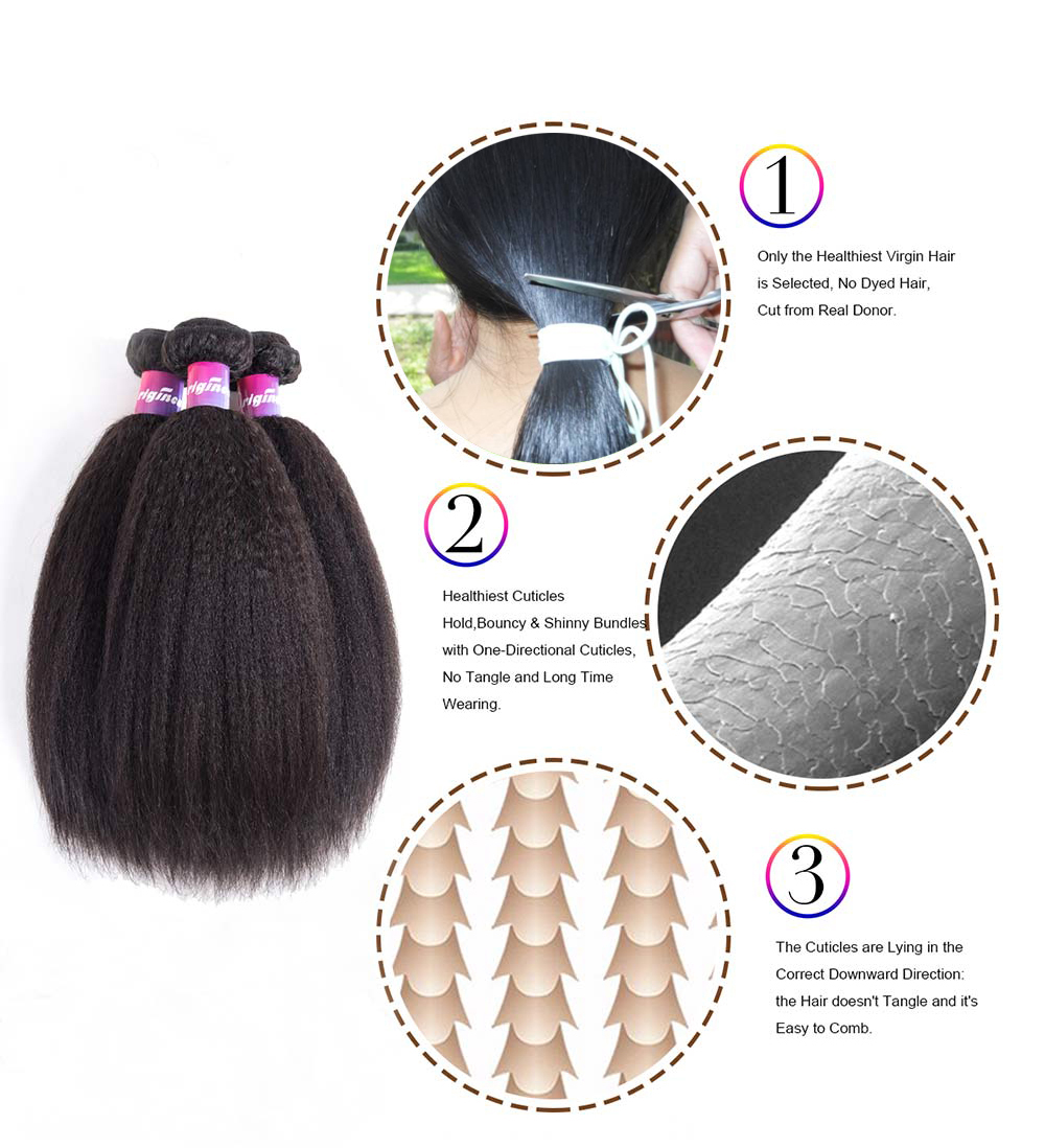 kinky straight hair natural hair extensions natural black hair extensions Orginea 3bundles kinky straight hair wave extensions natural black hair extensions for hair salon
