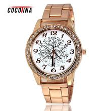 COCOTINA women children table diamond wholesale manufacturers wishing tree Christmas tree strip digital watch gift table WT0020