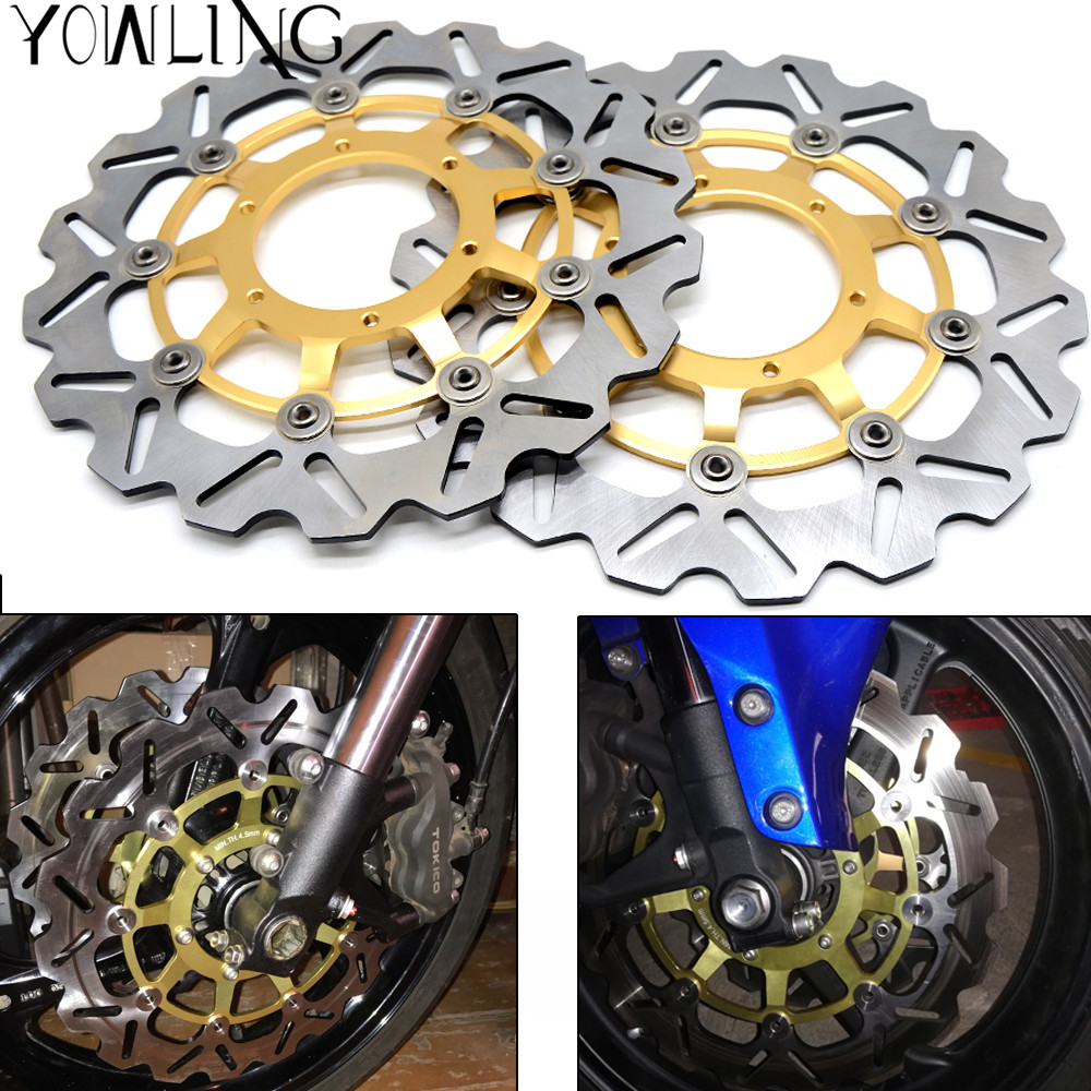 2PCS Motorcycle Accessories Front Floating Brake Disc Rotor For Honda CBR600RR CBR 600RR CBR 600 RR 2003 - 2011 2012 2013 2014