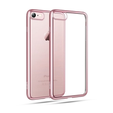 Pink coque For iPhone 7 case silicon Ultra Thin clean soft TPU cover Phone case For iPhone7 7 Plus Gold edge cover