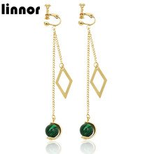 Linnor 2017 Desinger Venus Jupiter Dangle Earring Ball Planet Ear Pendientes Long Earing Brincos Pending Bijoux