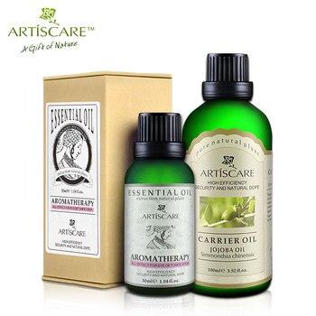 Artiscare embellezca los ojos + aceite esencial aceite base de Jojoba cuidado de la piel hidratante anti-arrugas Anti hinchazón ojeras belleza