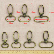 20pcs/lot Silver Bronze Metal Luggage bag Dog buckle Snap hook Bag hanger Lobster Clasp DIY Sewing handmade Key chain buttons