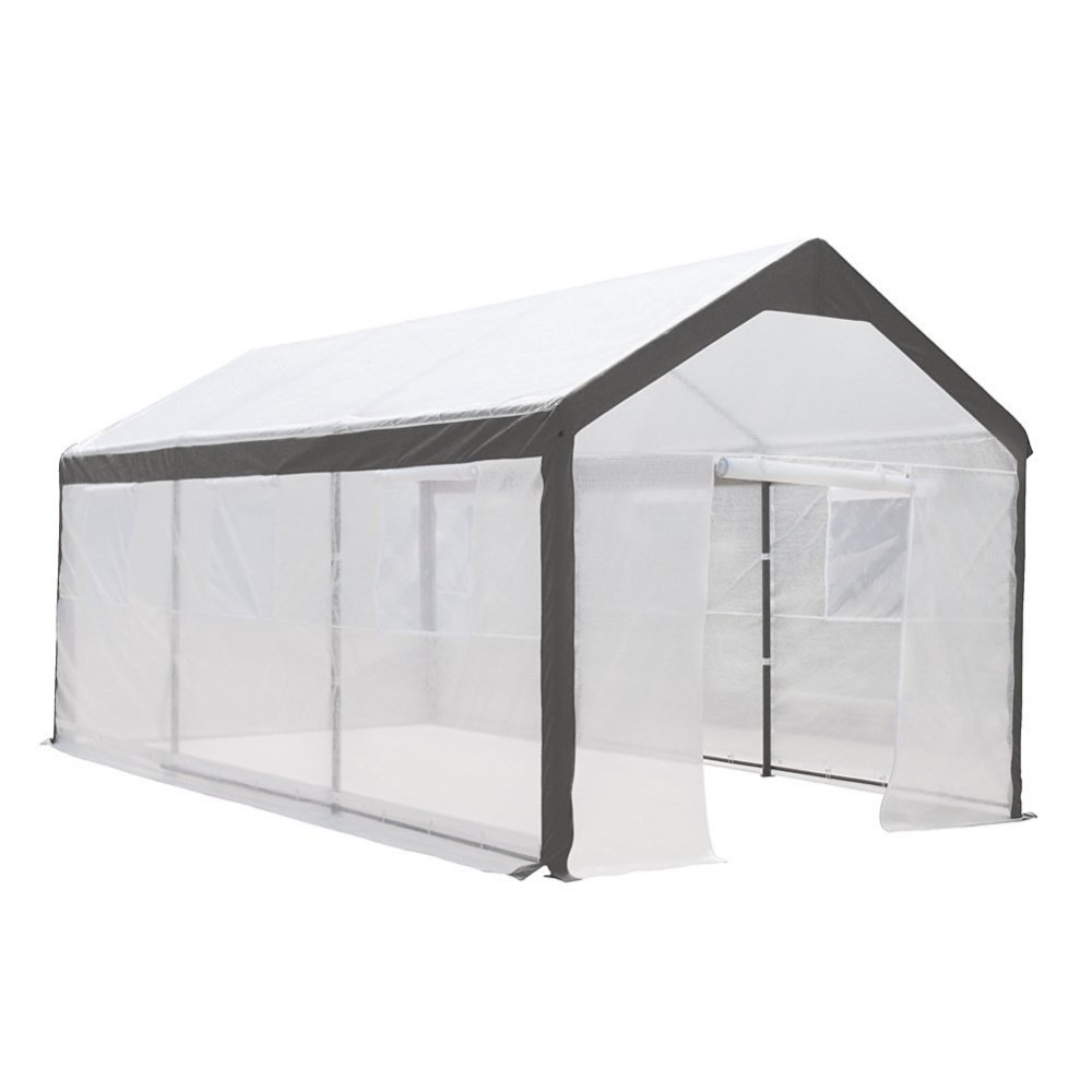 Perfect Abba Patio 10 X 20 Feet Large Walk In Fully Enclosed Lawn And Garden  Greenhouse With Windows White