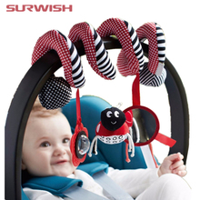 Surwish Cute Infant Babyplay Baby Toys Activity Spiral Bed & Stroller Toy Set Hanging Bell Crib Rattle Toys For Baby(China)