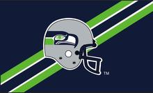 customer design fans flag for Seattle helmet 100D polyester digital printed with 2 Metal Grommets(China)